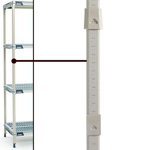 Metro MQ74UPE MetroMax Q Epoxy Coated Steel Interchangeable Mobile Post for Stem Caster, 1