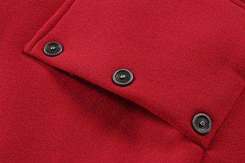 Cravog Avec À Poches Femme Hiver Rouge Longue 2 Manteau 2016 Léopard Capuche Imprimé Casual Zip Mode Jacket Hoodie Up Chaud awCxq7aTpr