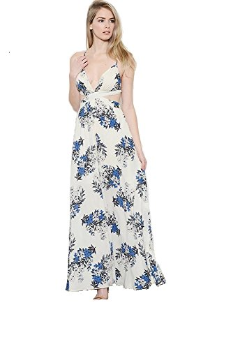Women's Floral Long Maxi Dress - And Kendall Jenner Kylie Style