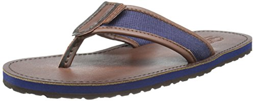 Image of Polo Ralph Lauren Men's Sullivan Flip-Flop,Newport Navy/Dark Brown,8 D US