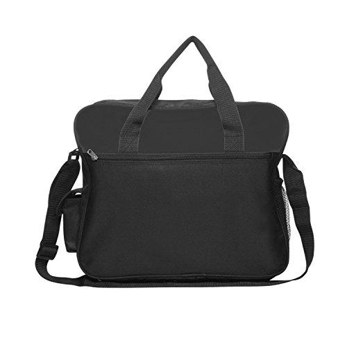Messenger Tasche, Oversized, Schwarz