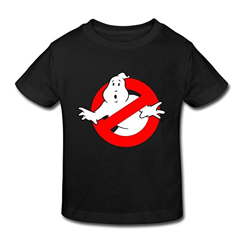 Ghostbuster T Shirts For Kids (Age 2-6 Kids Toddler Ghostbusters Logo Slimer 5-6 Toddler Little Boy's And Girl's T-Shirts Black)