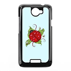 HTC One X Cell Phone Case Black Love Bug Ladybug RKH Phone Case Active Unique