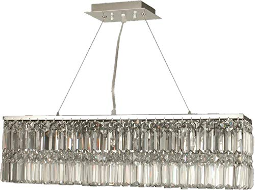 Chandelier Dale Tiffany CANLEY 6-Light Polished Chrome Metal Crystal Sol Dale Tiffany 6 Light Chandelier