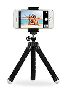 Digital Phone Tripod, Portable And Adjustable Camera Stand Holder With Bluetooth Remote And Universal Clip For iPhone, Android Phone, Cam And Sports Camera Go Pro, Self Timer For Selfie