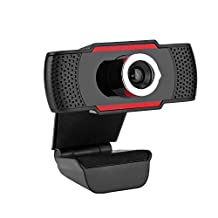 USB HD Camera Computer Video Call 1080P Camera 360° Rotation Built-in Acoustic Microphone 1920 * 1080 Resolution Suitable for Laptops and Desktops Android TV Boxes Web Conferencing