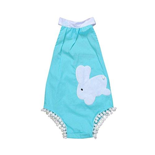 Vibola Newborn Baby Girl Clothes Rabbit Printing Romper Jumpsuit Bodysuit