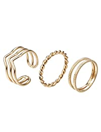 Jewelry Gold Fill Multilayer Joint Nail Toe Rings Bohemian Above Midi Knuckle Rings Set Adjustable Size