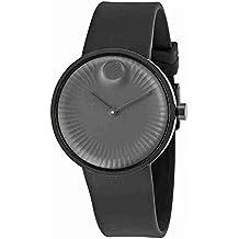 Movado Edge Black Aluminum Dial Swiss Quartz Men's Watch 3680005