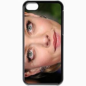 Personalized iPhone 5C Cell phone Case/Cover Skin Amanda Seyfried Blonde Hair Gray Eyes Face Close Up Black