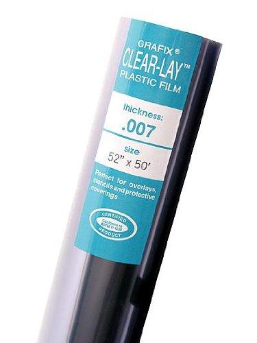 Grafix Clear-Lay Plastic Film 0.003 20 in. x 50 ft. roll