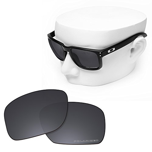 OOWLIT Replacement Sunglass Lenses for Oakley Holbrook Black Combine8 Polarized by OOWLIT