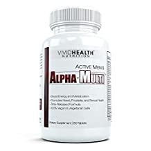 Active Men's Alpha-Multi - High Performance Multivitamin for Male Health, Complete Nutrition for Active Men - 60 Tablets