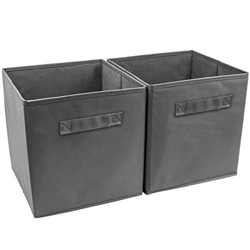 Pack Cube 2 - Sorbus Foldable Storage Cube Basket Bin (2 Pack, Grey)