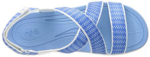 Ryka Womens Belmar Athletic Sandal White/Blue YyFUCmDK