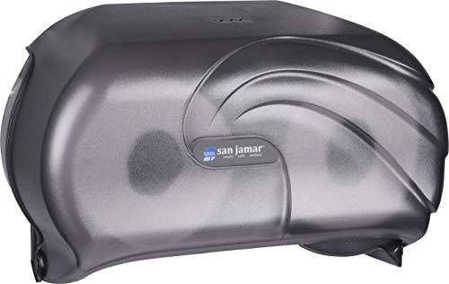 San Jamar R3690TBK Versatwin Double Roll Toilet Tissue Dispenser with Bio Pruf, Oceans, Black Pearl by San Jamar (Image #3)