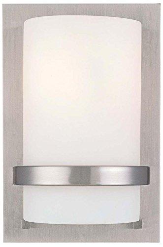Minka Lavery Wall Sconce Lighting 342-84, Glass Damp Bath Vanity Fixture, 1 Light, 100 Watts, ()