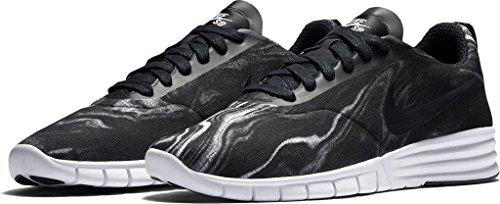 NIKE Herren SB Lunar Paul Rodriguez 9 Skate Schuh Weiß / Schwarz / Weiß / Schwarz