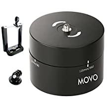 Movo Photo MTP2000 Panaromic 360°/ 120-Minute Time Lapse Tripod Head for Cameras, DSLR's, GoPro's and Smartphones (Supports up to 4.4 LBS)