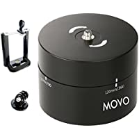 Movo Photo MTP2000 Panoramic 360°/ 120-Minute Time Lapse Tripod Head for Cameras, DSLRs, GoPros and Smartphones (Supports up to 4.4 LBS)