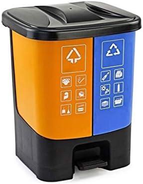ゴミ袋 ゴミ箱用アクセサリ 創造的な二重バレルの覆われたゴミ箱大容量のペダルのゴミ箱屋外のゴミ箱 キッチンゴミ箱 (Color : A, サイズ : S)
