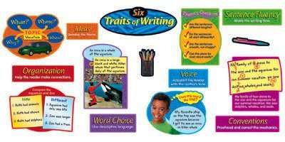 Trend Enterprises Six Traits of Writing Bulletin Board Set, 15 Pieces (T-8139) by Trend Enterprises