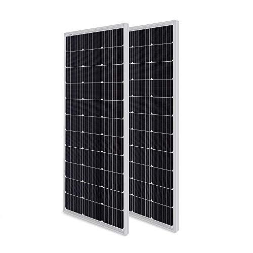 HQST 100W Monocrystalline Solar Panel (200W Compact Design)