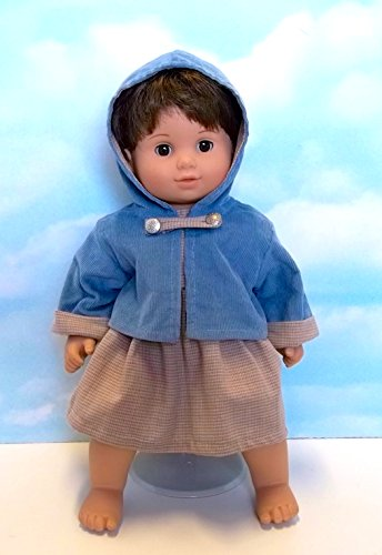 - Beatrice Collection Blue Corduroy Jacket and Tweed Dress. Fits 15