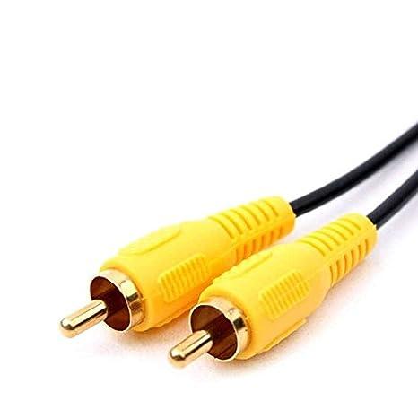 Cable coaxial se conecta rca-compatible Componentes de Audio Digital amarillo: Amazon.es: Electrónica