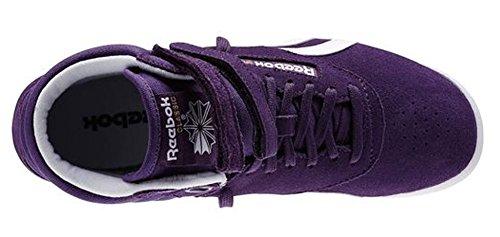 Reebok Freestyle Hi Suede M46528 Lila (Purple Shade / White / Gold Met) Größe Euro 40,5 / US 9,5 / UK 7 / 26,5 cm