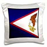 Florene World Flag Buttons - Photo Of American Samoa Flag Button - 16x16 inch Pillow Case (pc_80896_1)