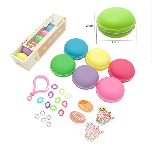 Colorful Macaron Slime DIY Kit 6 Pieces Stress Relief Toys for Kids Jandoon