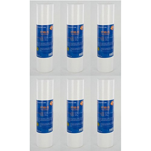 FiltersFast Compatible Replacement for Pentek P25 Comp Water Filter - 6 Pack (Replacement Comp)