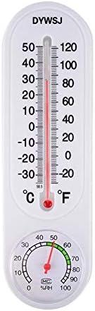 Clara Tracy Thermometer Hygrometer Innenwandmontage Feuchttemperatur-Temperaturüberwachungsmessgerät Außen Tragbares Hängethermometer Hygrometer