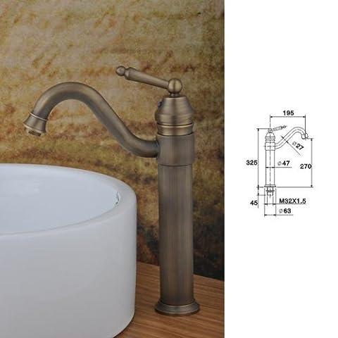 LightInTheBox Contemporary Centerset Single Handle One Hole in Antique Copper Bathroom Sink Faucet