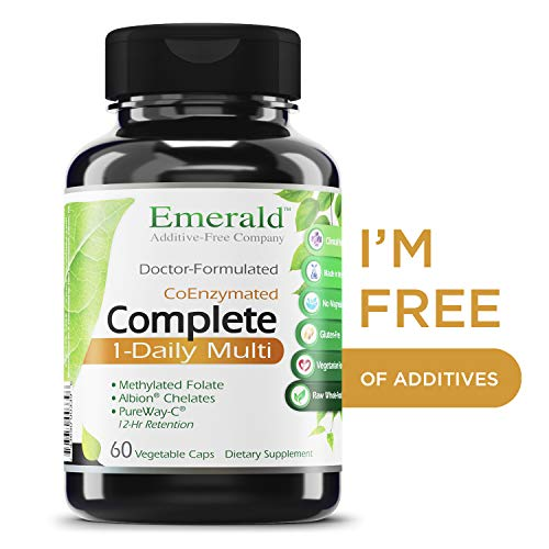 Complete 1-Daily Multi - Multivitamin Full of Coenzymes, Antioxidants, Folic Acid, & Vitamins - Supports Healthy Heart, Strong Bones, & Immune System - Emerald Laboratories - 60 Vegetable Capsules