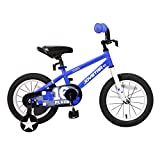 JOYSTAR Kids Bike for 4 5 6 Years Boys, 16 Inch Child Bicycle with Training Wheels, Children Cycle with Full Chain Guard & DIY Sticker
