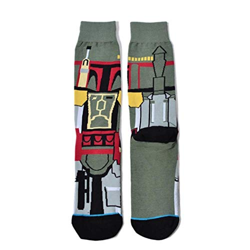 IEnkidu Men Casual Geometric Cartoon Pattern Cotton Long Socks Outdoor Sporting (5) (Pattern Casual Cartoon)