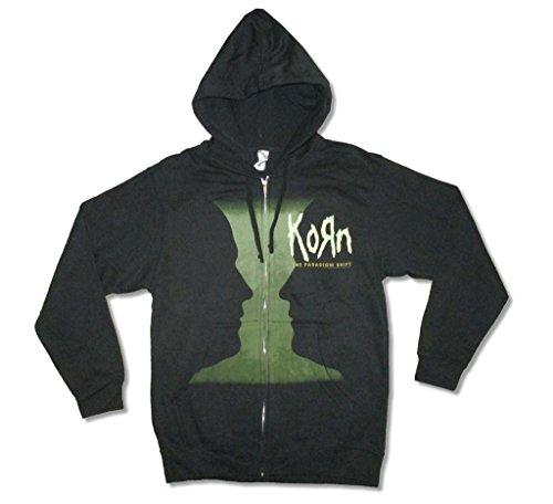 Korn The Paradigm Shift Grey Matter Black Zip Up Sweatshirt Hoodie (M)