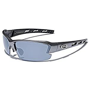 Oversized Wide Frame Men's Cycling Baseball Driving Water Sports Sunglasses - LARGE Size - Gray