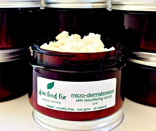 Microdermabrasion Skin Scrub Polish Exfoliate Acne Clogged Pores ALL NATURAL FREE SHIPPING by Skin Food Fix