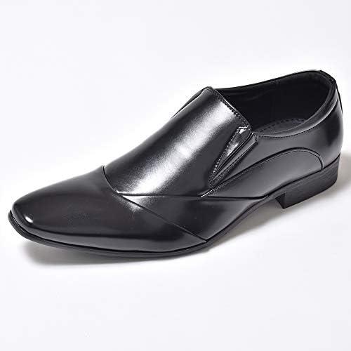 ビジネスシューズ スリッポン メンズ 男性の 革靴 皮靴 紳士靴 結婚式 フォーマル 通勤 雨に強い