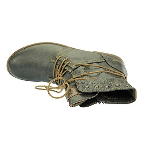 MustangSchnür-Booty - botas de caño bajo Mujer, color Gris, talla 43
