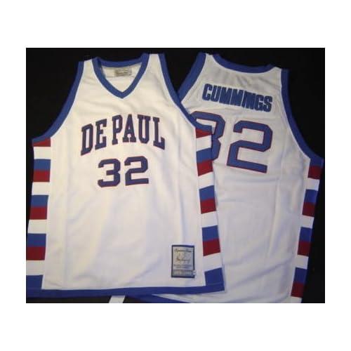 online store 3d12a cbb17 4XL- Terry Cummings #32 Throwback DePaul Blue Demons NCAA ...