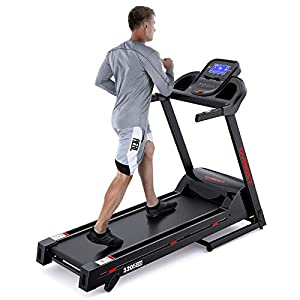 GYMOST Treadmill for Home, 3.25HP Folding Treadmills with Music Speaker, Large Running Machine Area, 36 Preset Programs, 8.1 MPH Max Speed, Heart Rate Monitor, 220 Lbs Weight Capacity