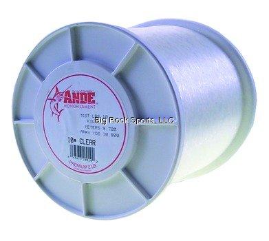 Ande A2-12C Premium Monofilament, 2-Pound Spool, 12-Pound Test, Clear Finish