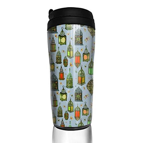 Rundehuahui Travel Coffee Mug Lanterns Insulated Thermos Stylish Portable Flask Car Cup,Accompanying Drink Bottle for Milk Water Tea,Keep -