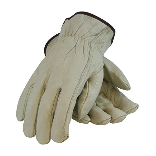 PIP 68-162/XXL Economy Grade Top Grain Cowhide Leather Driver's Glove, Keystone Thumb -