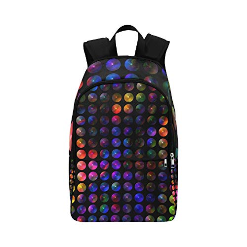 AIKENING Circle Shining Symmetrically Light About Abstract Casual Daypack Travel Bag College School Backpack for Mens and Women