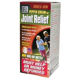 Pepper Cream for Joint Relief 3oz Roll-On by Bell (Cream Pepper)